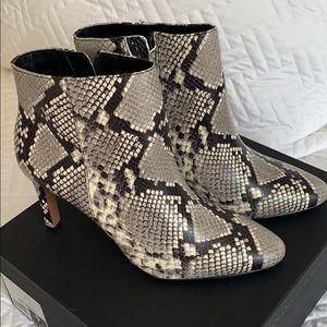 Banana Republic heeled snakeskin booties